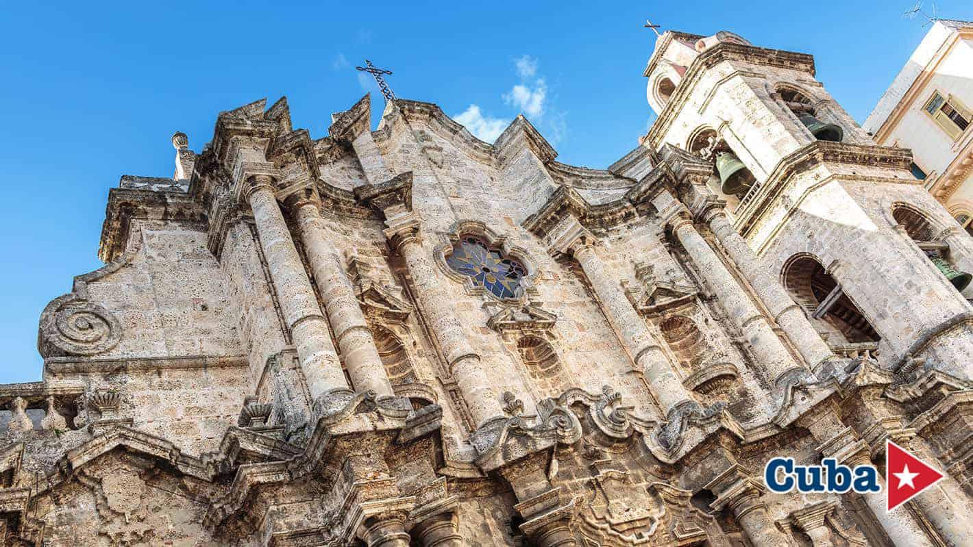 Πρόσοψη Καθεδρικού Ναού | Skydream Walking Tour στο ιστορικό κέντρο της Αβάνας