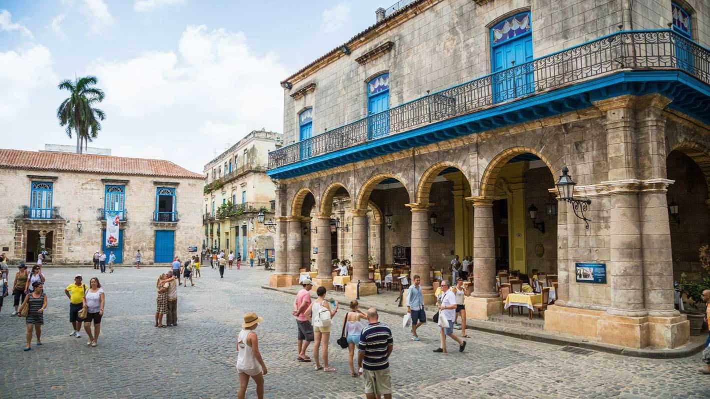 Cathedral square in old havana