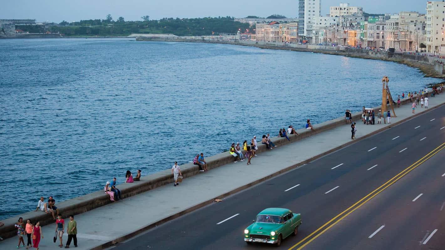 Havana malecon panoramic honeymoon travel 3