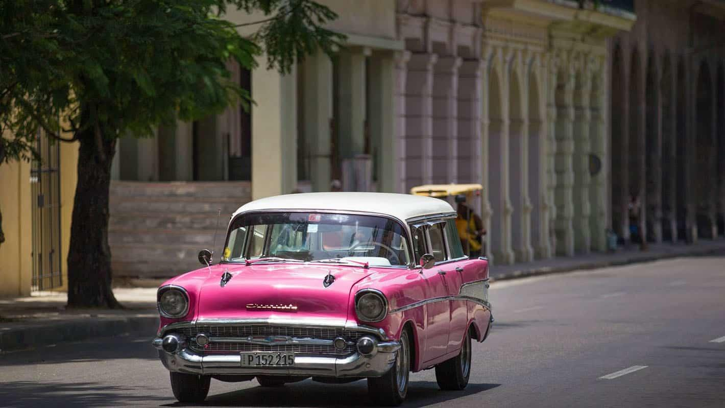 Old car in the streets of havana cuba