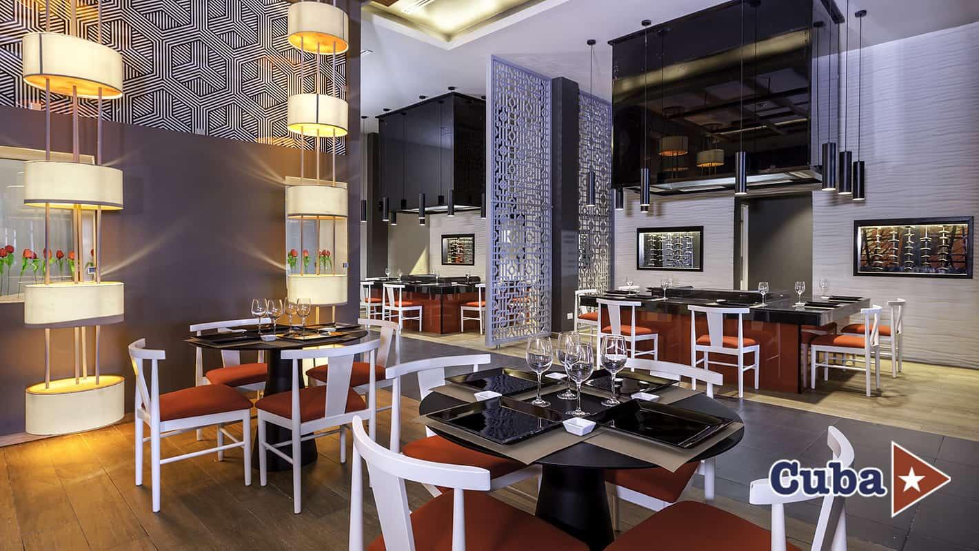 Paradisus los cayos cayo santa maria bana asian fusion restaurant