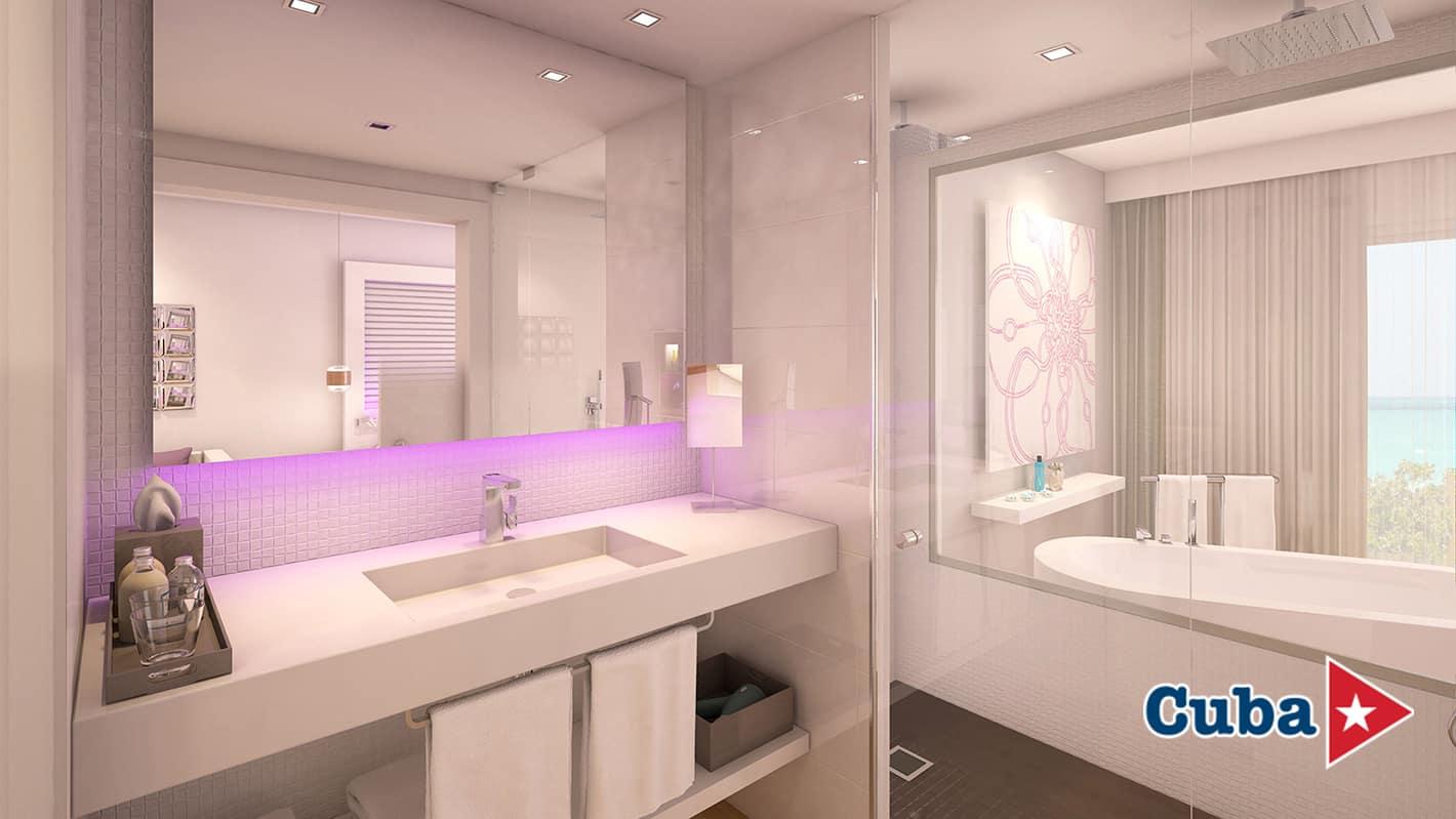 Paradisus los cayos cayo santa maria paradisus junior suite bathroom