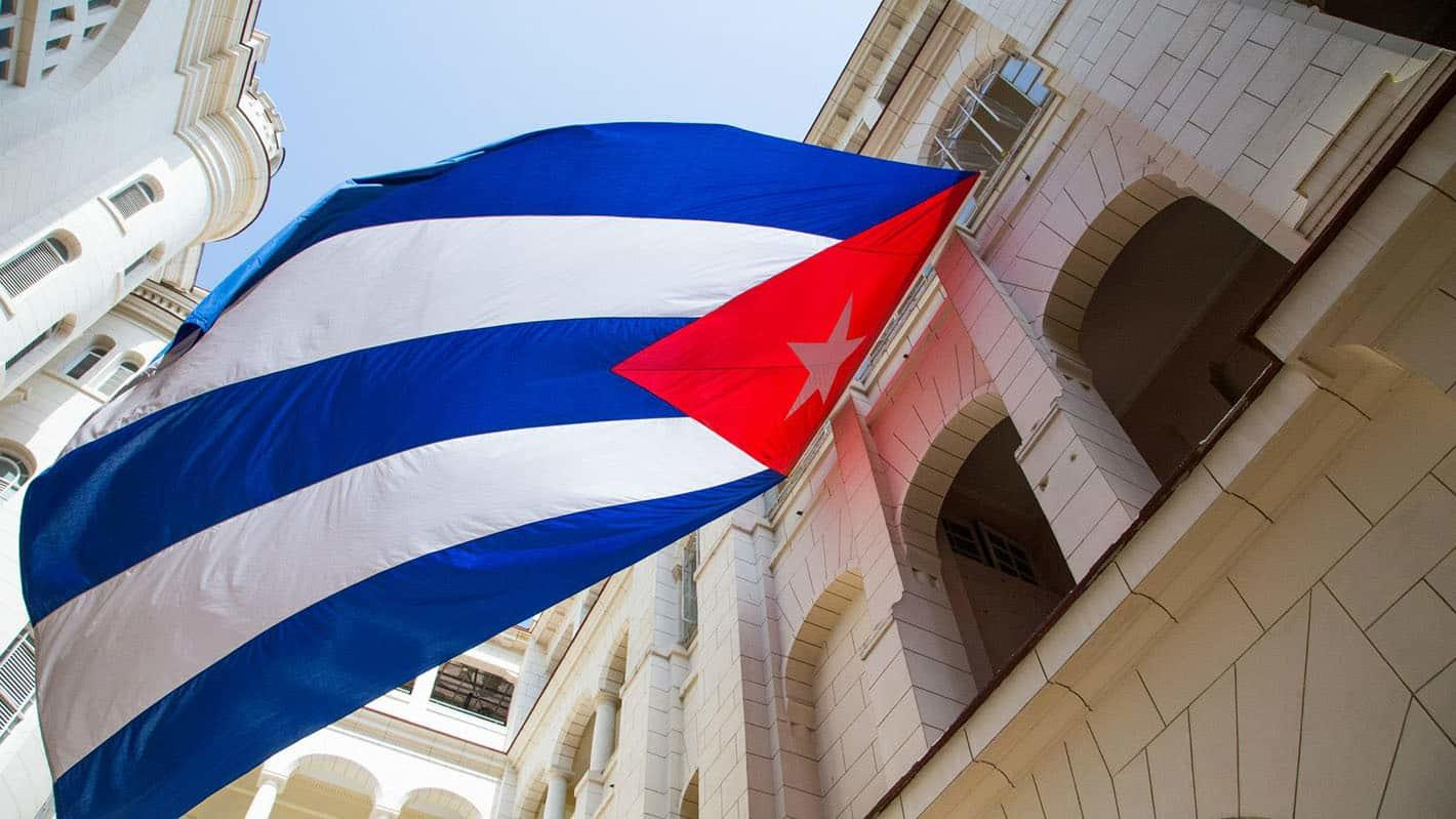 The cuban flag in the revolution museum 1